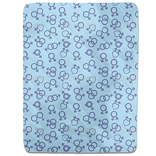 Unusual Love Fitted Sheet: Queen Luxury Microfiber, Soft, Breathable by uneekee