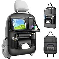 Apostasi Car Backseat Organizer Foldable Table Holder, Multifunctional Luxury PU Leather Car Seat Back Organizer, Auto…