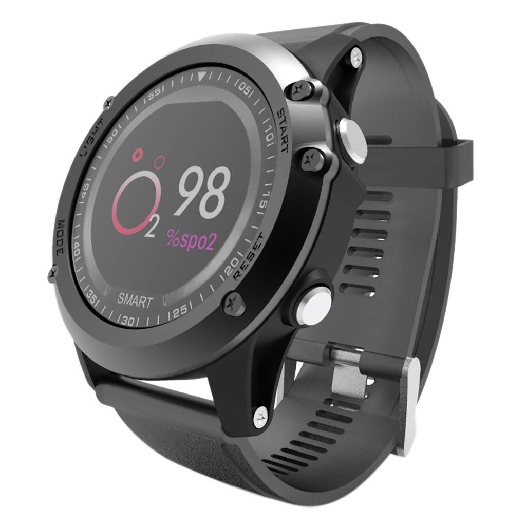 Smart Watch Sports Fitness Heart Rate Tracker Blood Pressure Calories Waterproof T2 Sports Fitness for Men Women (Black)