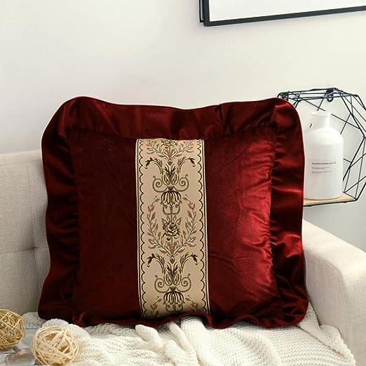 Cojín de tela cojín de encaje almohada sofá cojín cama ...