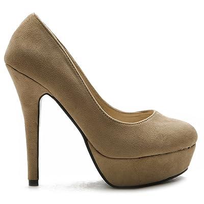 Ollio Women's Shoe Platform Classic Faux Suede High Heel Multi Color Pump | Pumps