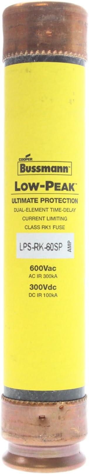 Bussmann LPS-RK-60SP Dual-Element Time-Delay Fuses Class RK1 600V 60 Amp
