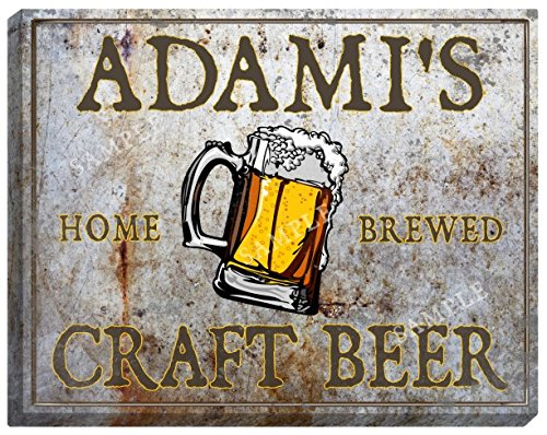 Adamis Craft Beer Stretched Canvas Sign   24  X 30