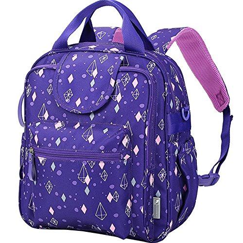Mummy bolsa de hombro bolsa multifuncional de gran capacidad de luz de la moda de embarazada embarazada materna bebé paquete ( Color : Crystal purple ) Crystal purple ice