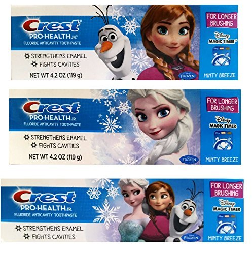 Crest Pro-Health For Me Disney Frozen Anticavity Fluoride Toothpaste - Minty Breeze 4.2 Oz (Pack of (Childrens Anticavity Fluoride Toothpaste)