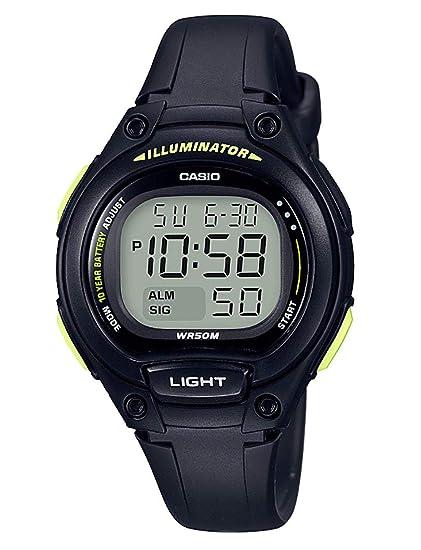 Casio Reloj Digital para Mujer de Cuarzo con Correa en Plástico LW-203-1BVEF: Amazon.es: Relojes