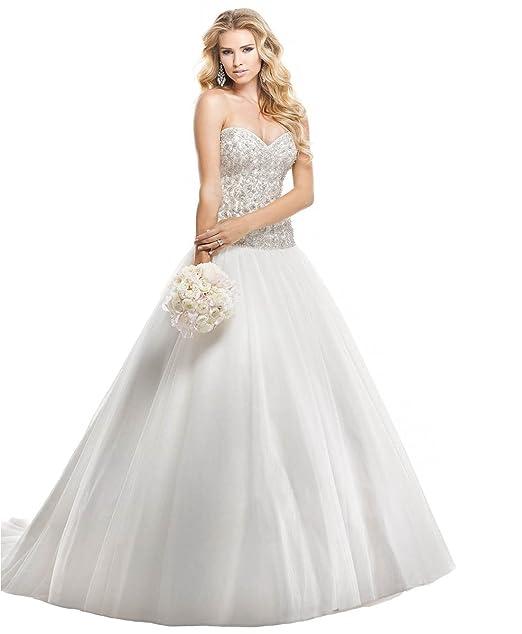 eb97c904f9fc Abito da sposa romantico con perline e cristalli di swarovski Maggie  Sottero - Mod. Wendy