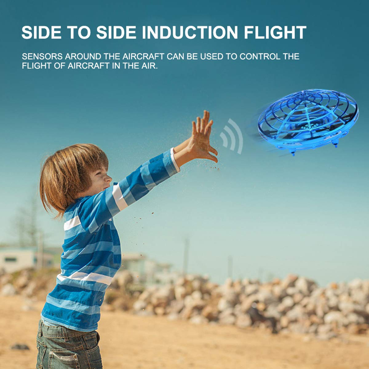Wandeson Flying Ball Infrared Sensor Interactive UFO Toy Intelligence Sensor Aircraft Flying Toy for Children by Wandeson (Image #5)