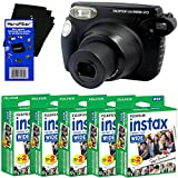 Fujifilm instax 210 Wide-Format Instant Photo Film Camera (Black) + Fujifilm instax Wide Instant Film (100 sheets) + HeroFiber® Ultra Gentle Cleaning Cloth