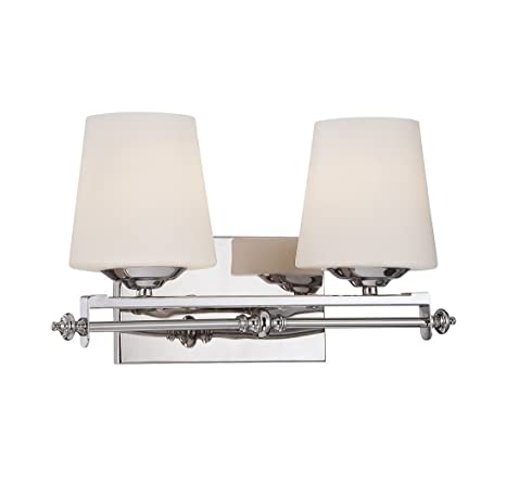 buy popular f6d52 8a078 Savoy House 8-5850-2-11 Aiden 2-Light Vanity Bar in Polished Chrom