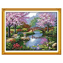 Docooler Needlecrafts Counted Cross Stitch Kit, Beautiful Scenery of Park 57 * 45cm