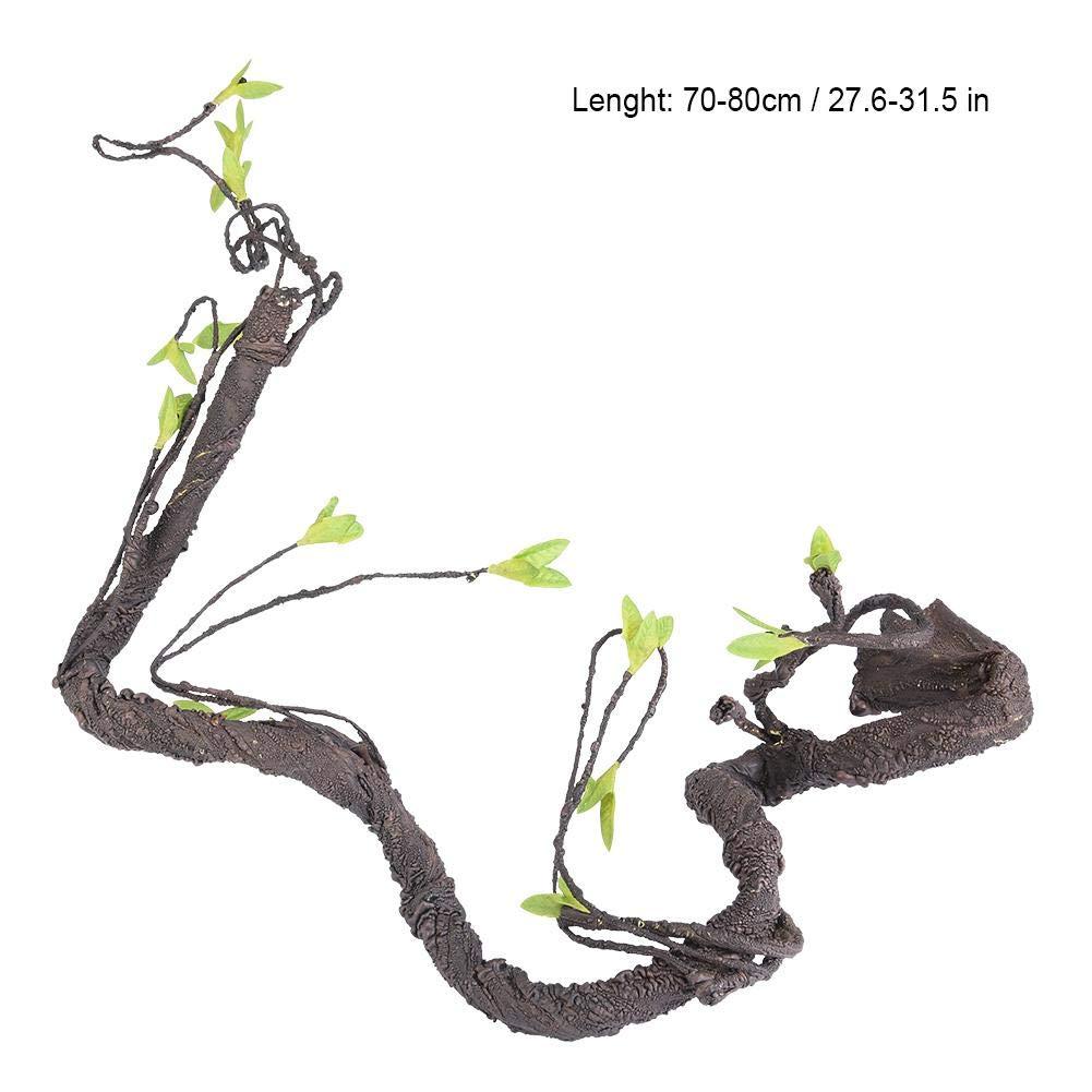 #1 Hffheer Reptiles Vides Artificiales Lagartos Escalada Enredadera Emulaci/ón Escalador Selva Bosque Curva Rama Reptil Terrario Plantas Decoraci/ón