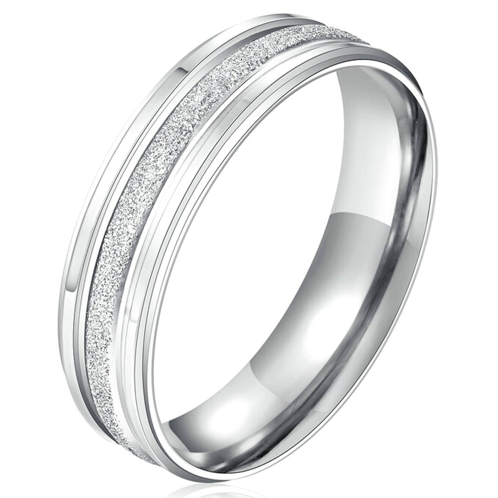 Gnzoe Mens|Womens Stainless Steel Cz Rings Promise Wedding Engagement Bands Silver Couple Rings