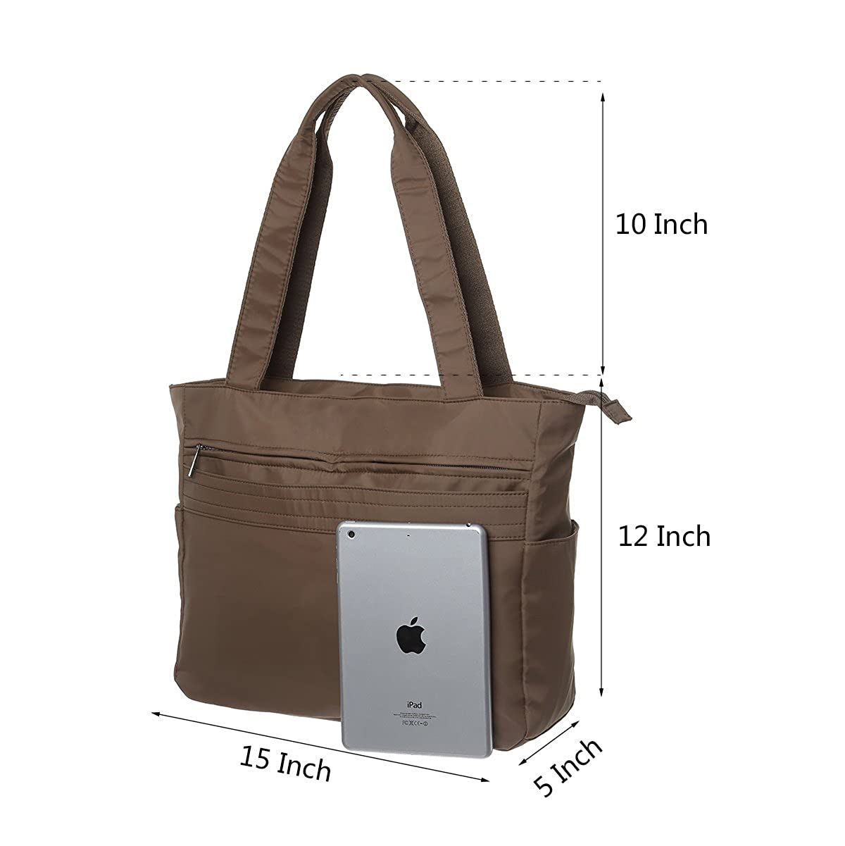 bbd0b19ca3 Amazon.com  Nylon Large Tote Bags Waterproof Lightweight Handbags Travel Shoulder  Bag for Women with Umbrella Pocket  Shoes