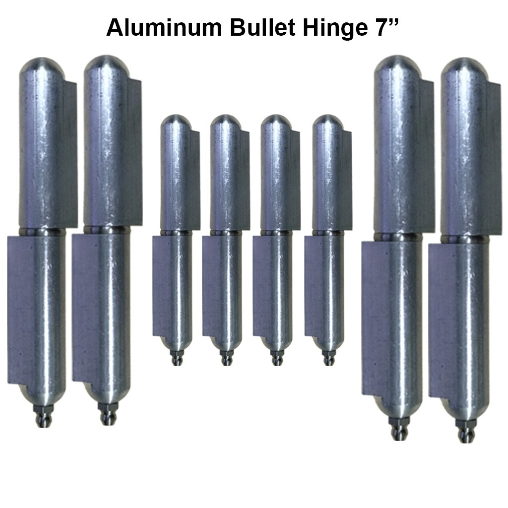 Lot 4 Aluminum 7'' heavy duty driveway gate hinges Stainless Steel Bushing & pin