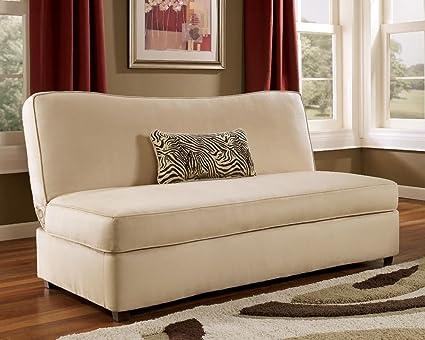 Rayanne Stone Flip Flop Armless Sofa By Ashley Furniture