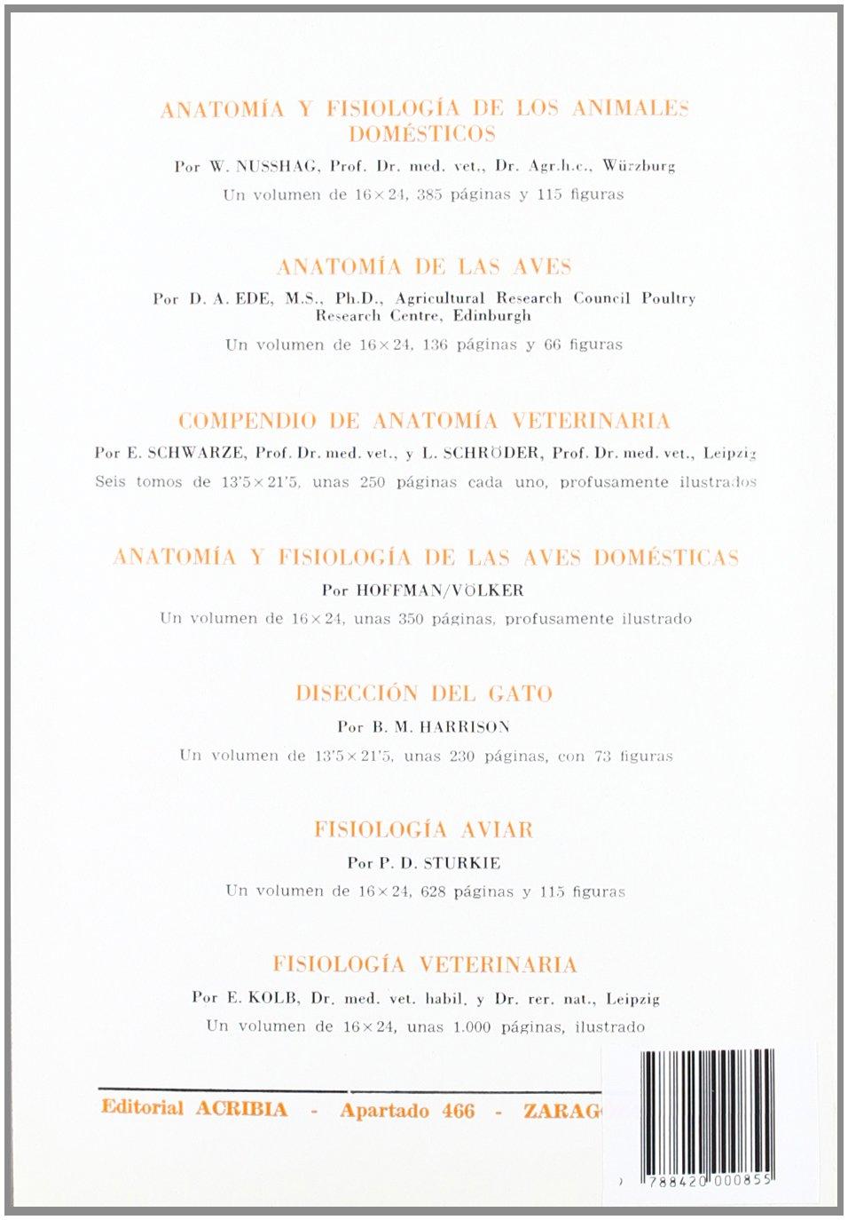 Anatomía y manual de disección de los rumiantes domésticos.: 9788420000855: Amazon.com: Books