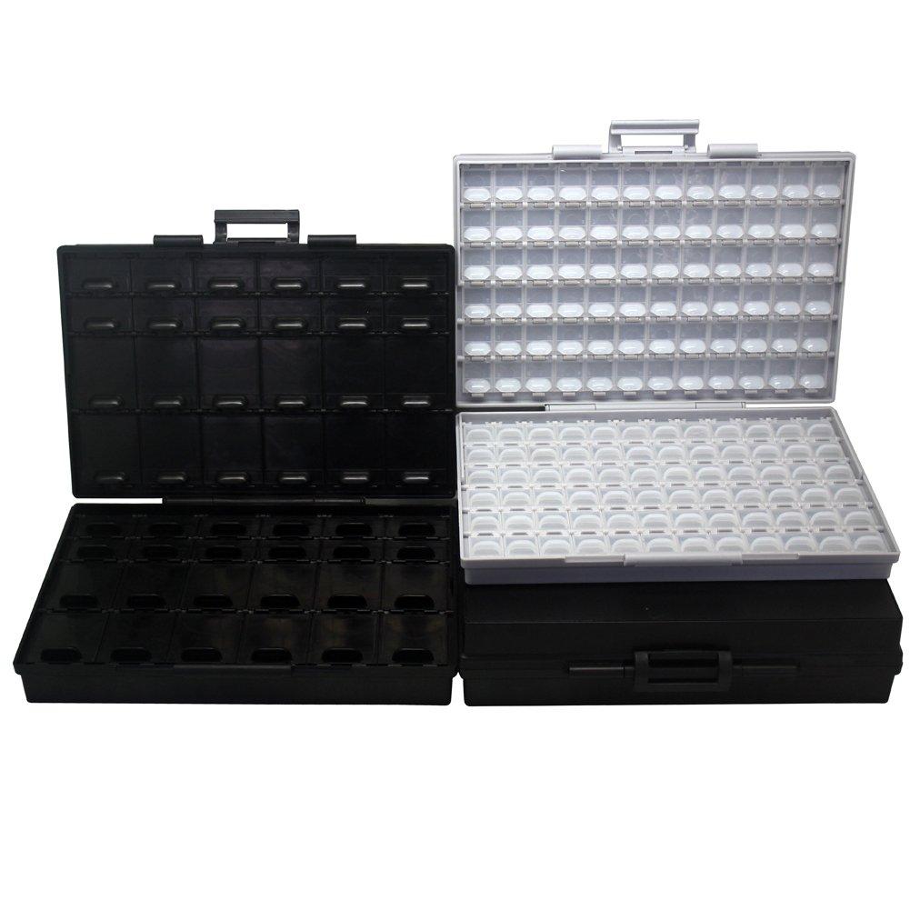AideTek 4pcs BOX-ALL パーツケース チップ抵抗 チップコンデンサ 144値を確実に整理収納 専用ラベルシール付 B077JFNJW9 4BOXALL144 4BOXALL144