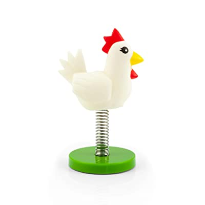 "A Crowded Coop's Legend of Zelda ""Springz Chicken"" Dashboard Accessory - Cute Plastic Bird On Spring Car Interior Decoration - Wiggles On Secure Base - Unique Collectible Novelty Toy: Toys & Games"