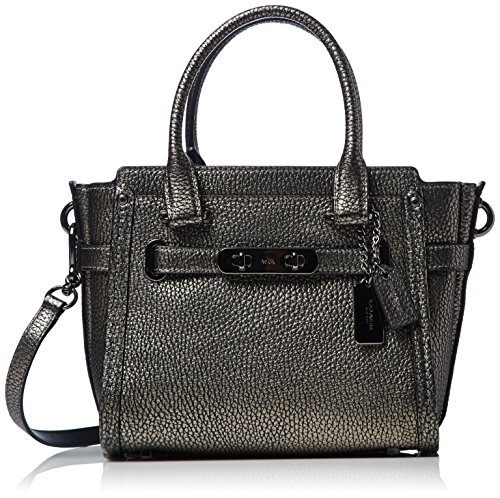Womens Pebbled Leather Coach Swagger product image