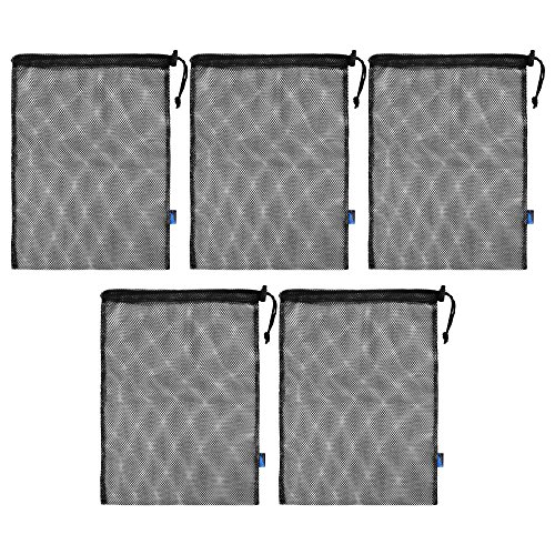 Mesh Storage Sack - BCP 5pcs Nylon Mesh Storage Ditty Bag Stuff Sack for Travel & Outdoor Activity,15 x 10.75