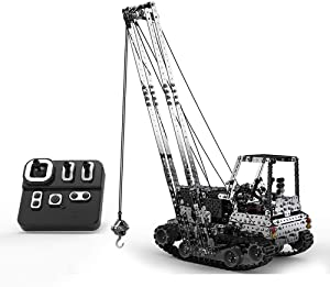 1745PCS Building Blocks RC Crane Car for Kids, GoolRC 2.4GHz 10 Channel Remote Control Crane, DIY Truck Toy with Stainless Steel Construction, Assembly Kits Parent-child Toy Home Toy Gift for Children
