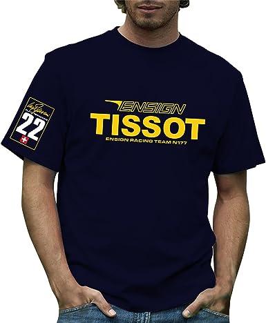 Retro Formula 1 histórico Ensign Grand Prix Camiseta 100% algodón Azul azul marino 42: Amazon.es: Ropa y accesorios