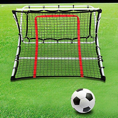 Smartxchoices 2in1 X-Ramp Soccer Trainer Rebounder Net Portable Soccer Goal Training Net Kids Adjustable Football Rebounder Practice Net(44 x 41 x 25 (Soccer Kick Rebounder)