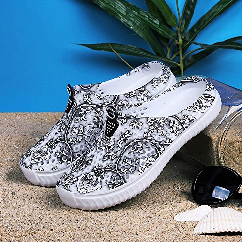 Sunmoot Beach Clog Shoes Slip On Garden Footwear Water Bash Womens Summer Casual Slippers Flip Flops Black by Sunmoot (Image #4)