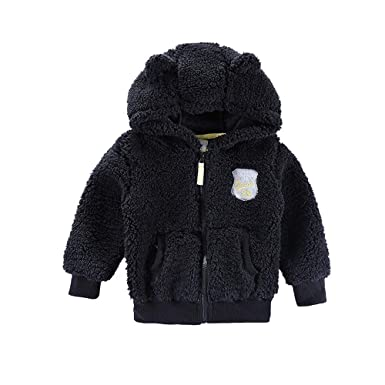 81f63d773 Amazon.com  Baby Toddler Boys Girls Winter Thick Fleece Jacket Warm ...