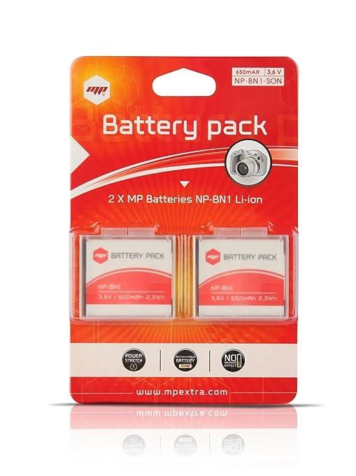 4 opinioni per MP EXTRA- 2 x batteria NPBN1 per SONY- Ottimizzato per SONY DSC-W310 , W320 ,