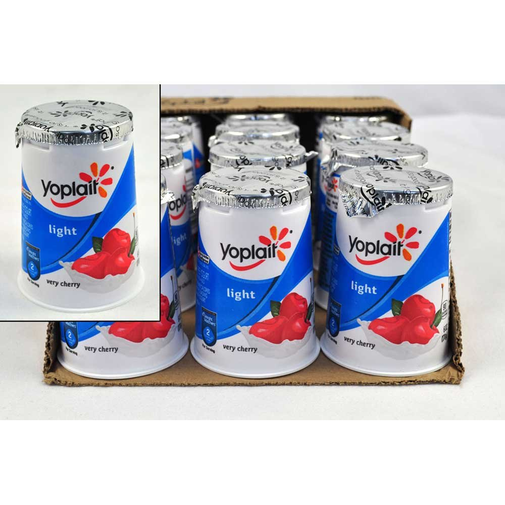 Yoplait Light Very Cherry Yogurt, 6 Ounce -- 12 per case.