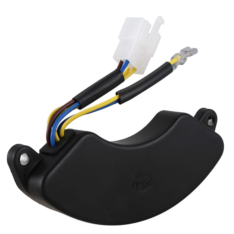 RETYLY 250V AC Gasolina Generador Di/ésel 3 Fases 6.5KW Regulador AVR Negro