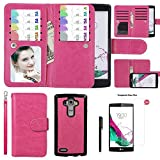 Case for LG G4, xhorizon TM SR [Upgraded] 2 in 1 Premium Leather [Wallet Function][Magnetic Detachable][Magnetic Car Mount Phone Holder Compatible]Folio Case For LG G4 with 9H Tempered Glass Film