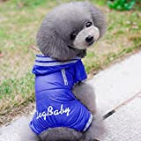 Glumes Pet Apparel Dog Clothing Clothes Rain Snow Coats Waterproof Raincoats 4 Legs Raincoat for Small Medium Size Dogs Adorable Hoodie Costumes for Chihuahua Poodle