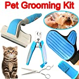 Pet Grooming Kit Effectively Reduces Shedding...