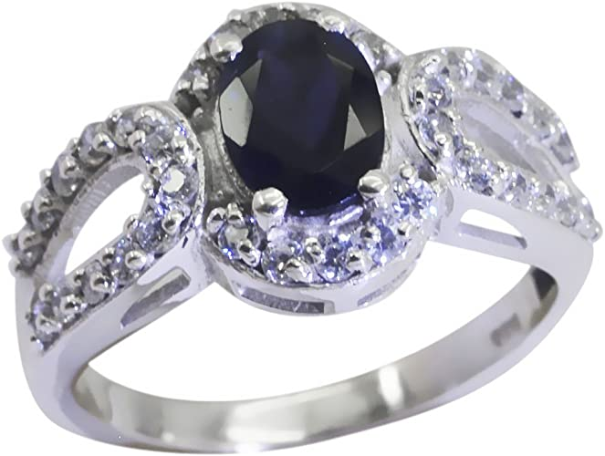 Gemsonclick Cubic Zircon Ring Handmade Marquise Cut Birthstone Sterling Silver Fashion Jewelry Size 4-13
