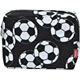 N. Gil Large Travel Cosmetic Pouch Bag 2 (Soccer Black)