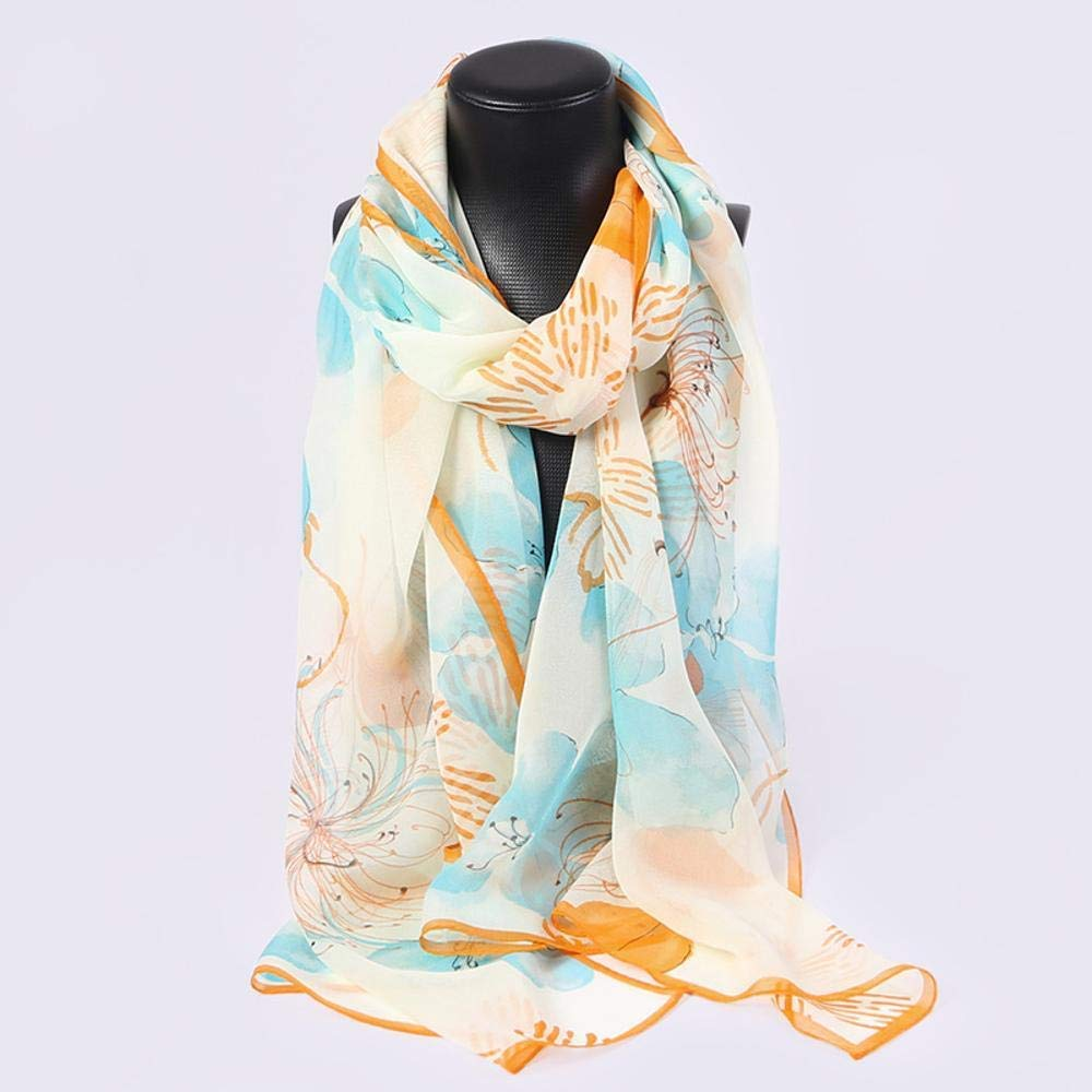 Clear Paioup Ladies Silk Shawl Sunscreen silk scarf 100% mulberry silk gift scarf Perfectly expresses unique temperament