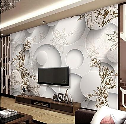 Nice LHDLily 3D Stereo Simple But Elegant Wallpaper Mural Living Room Tv  Backdrop Wallpaper 350cmX250cm