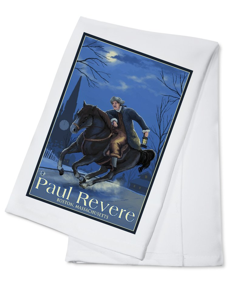 Paul Revere – ボストン、マサチューセッツ州 Cotton Towel LANT-18241-TL B018BBOSGG  Cotton Towel