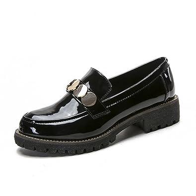 4f83a3f4df7 JRenok Derby Femme sans Lacet Chaussure en Rétro Élégante avec Bout Pointu  Richelieu Occasionnelle au Printemps  Amazon.fr  Chaussures et Sacs