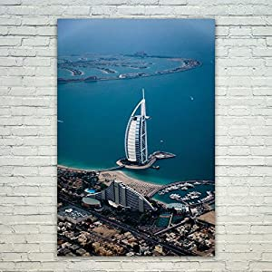 Westlake Art Poster Print Wall Art - Dubai Sea - Modern Picture Photography Home Decor Office Birthday Gift - Unframed - 16x24in