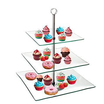 Tjb 3 Tier Serving Tray Platters Appetizer Or Dessert Cupcakes
