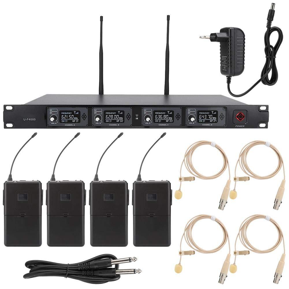 Wendry Micrófono Profesional, UHF uno para Cuatro Micrófono de ...