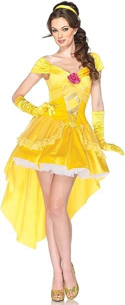 Leg Avenue 217403 Princesas Disney Encantador Belle Disfraz Adulto ...
