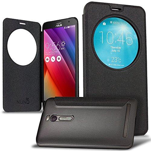best loved 2a955 b2504 Zenfone 2 Case, NuNu Asus Zenfone 2 Flip Case CONCRETE GREY ...