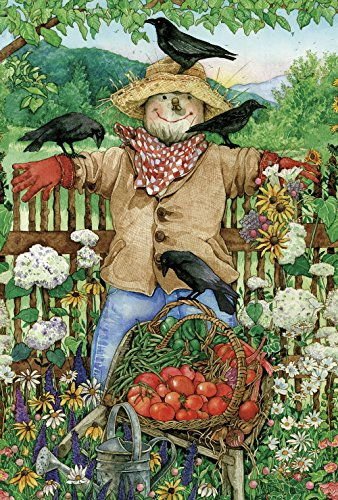 (Toland Home Garden Friendly Scarecrow 12.5 x 18 Inch Decorative Summer Veggie Harvest Garden Flag)