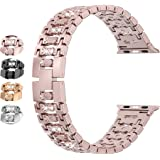 Moolia Bling Candy Band Compatible with Apple Watch Band 42mm 44mm iwatch Series 5 4 3 2 1, for iwatch Women Metal…