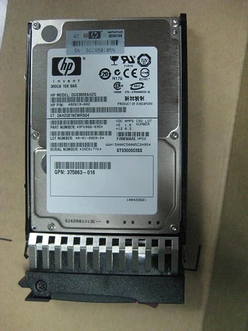 492619-002-300GB 10K SAS SFF DP HDD
